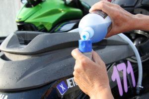pour into hose 3